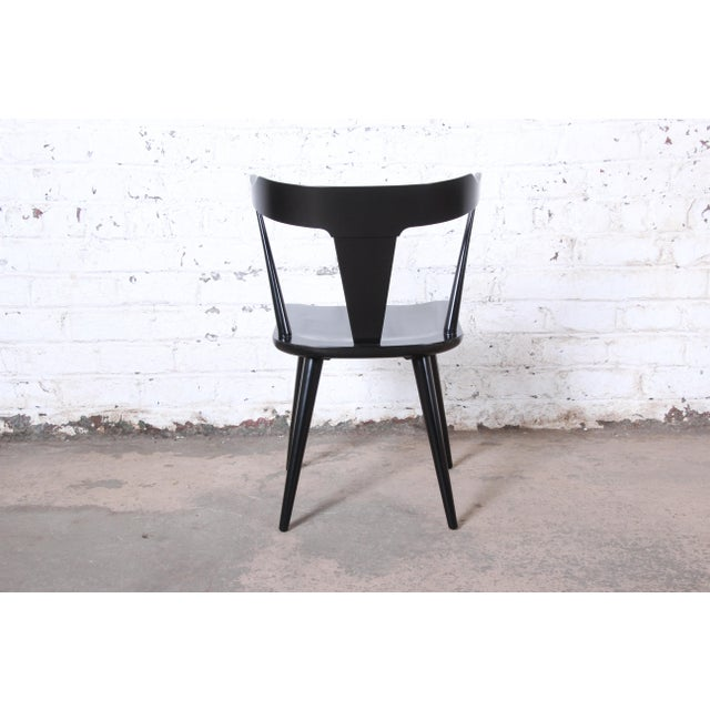Paul McCobb Planner Group T-Back Black Lacquered Solid Maple Dining Chairs, Set of Ten For Sale - Image 10 of 13