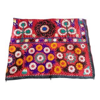 Old Uzbecki Suzani Textile, Wall Hanging For Sale