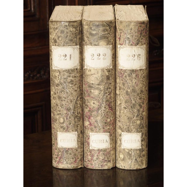 Decorative Set of 3 Antique Faux Book Document Holders From Italy, C.1915 For Sale In Dallas - Image 6 of 12
