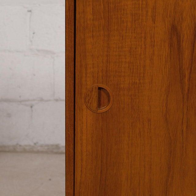 Petite Danish Modern Teak Bar Cabinet - Image 9 of 10