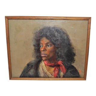 1970s Hiroko Mori African American Woman Portrait For Sale