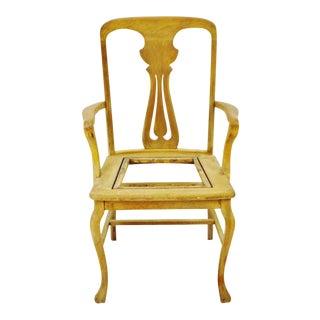 Antique Quartersawn Oak Claw Foot Arm Chair