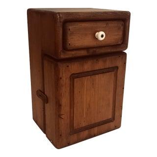 Antique Farmhouse Pine Cabinet For Sale