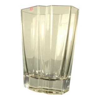1980s Scandinavian Tapio Wirkkala Crystal Vase For Sale