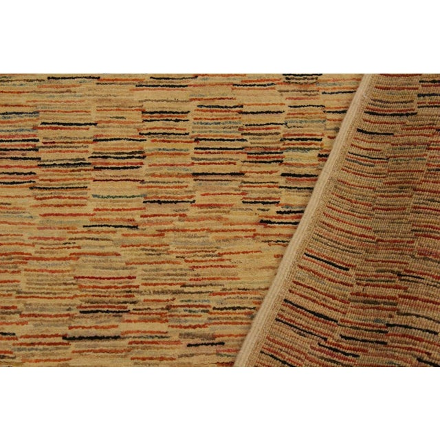 Gabbeh Peshawar Blair Tan/Rust Hand-Knotted Wool Rug -3'2 X 5'0 For Sale - Image 4 of 8