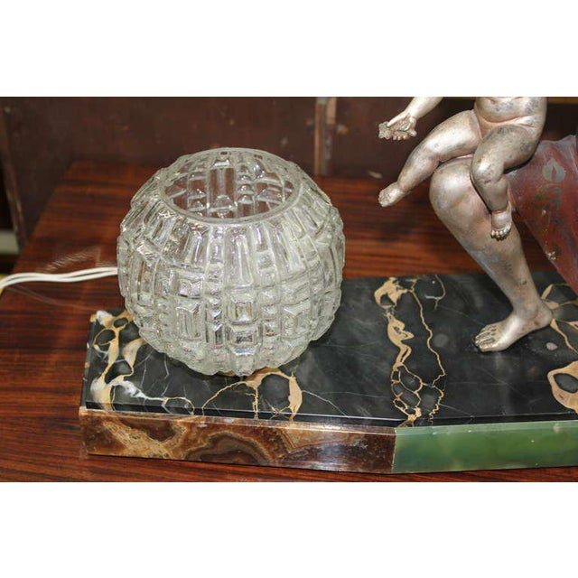 Art Deco U. Cipriani French Art Deco Lamp Sculpture For Sale - Image 3 of 10