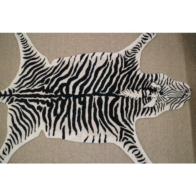 Wool Zebra Rug - 3′11″ × 6′ - Image 3 of 5