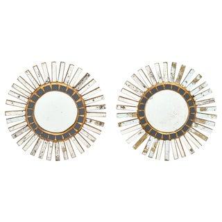 Pair of Spanish Sunburst Mirrors For Sale