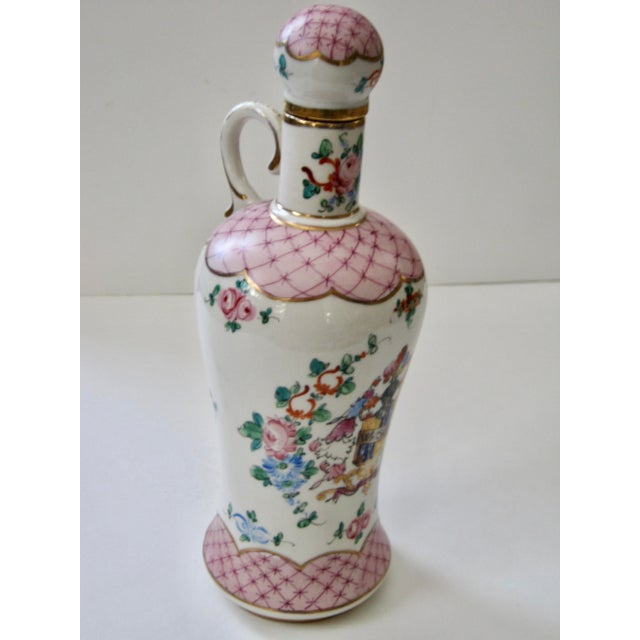 Wood Antique Early 20th Century Porcelain Whiskey Decanter For Sale - Image 7 of 7