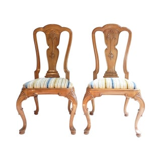 French Country Hall Chairs - A Pair For Sale