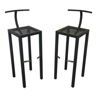 "Modern Philippe Starck ""Sarapis"" Metal Bar Stools - a Pair"