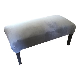 Gray Velvet Upholstered Accent Bench