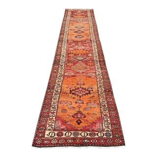 Oversized Vintage Hand Knotted Anatolian Runner Rug