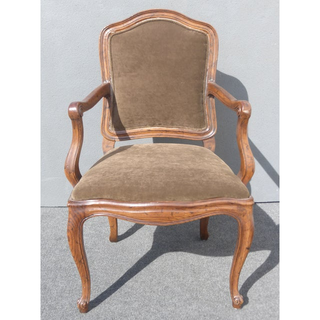 French Henredon Mohair Dining Chairs - Set of 6 - Image 5 of 11