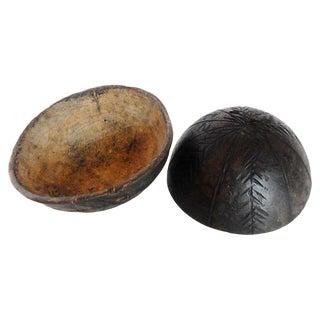 Igbo Ceremonial Wood Bowls - A Pair