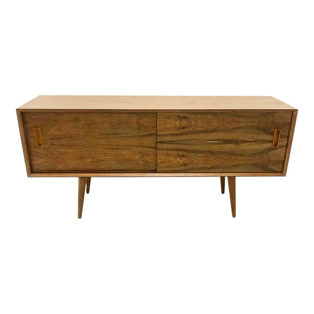Mid Century Style Walnut Credenza For Sale