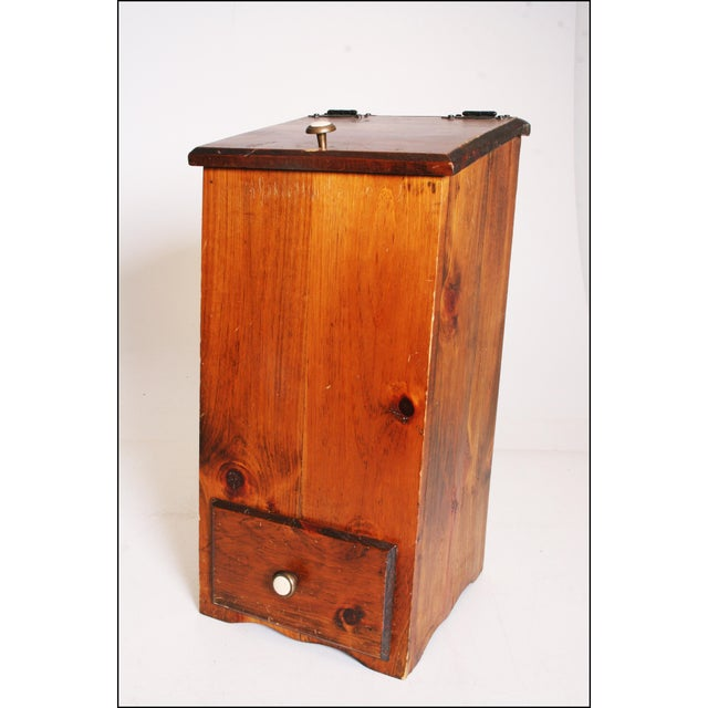 Vintage Rustic Wood Taters & Onions Bin - Image 5 of 11