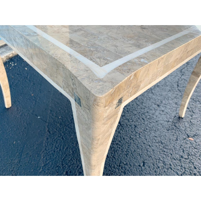 Maitland Smith Gaming Table in Tessellated Marble. America, Circa 1970 For Sale In West Palm - Image 6 of 11