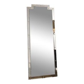 Framed Studded Floor Mirror