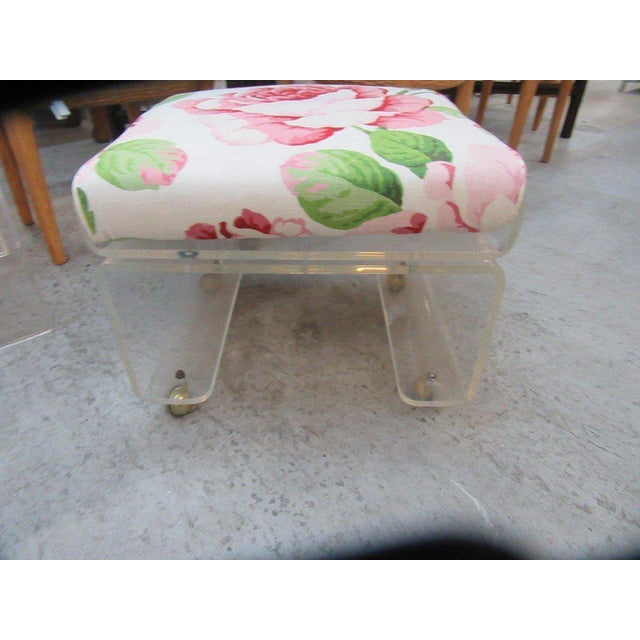 Pagoda Lucite Bench Stool - Image 2 of 6