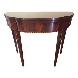 2000s Myers Mahogany Card Table by Henkel Harris For Sale