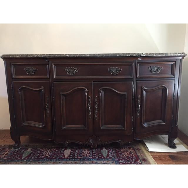 Marble/Granite Top Dining Room Buffet/Sideboard by Bernhardt - Image 7 of 8