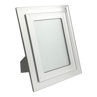 1970's Vintage Mirrored Picture Frame For Sale