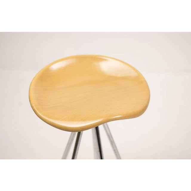 "Contemporary ""Jamaica"" Bar Stools by Pepe Cortés with Solid Beech Seats For Sale - Image 3 of 6"