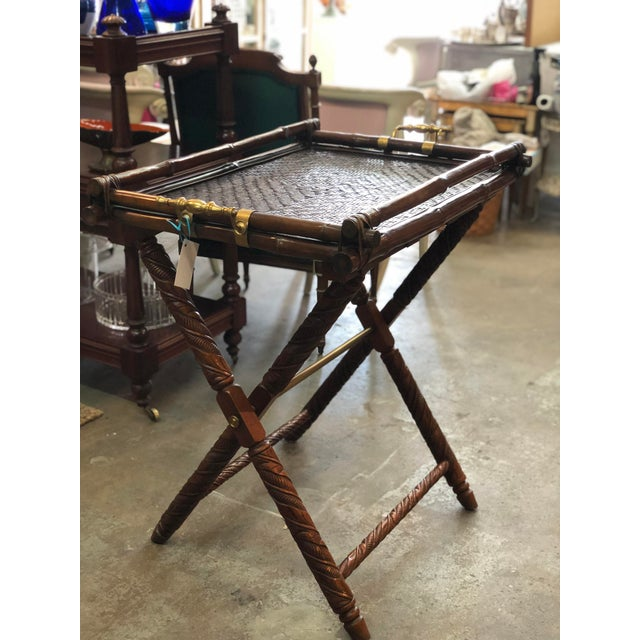 """Exquisite Ralph Lauren from the iconic """"Safari Collection"""" butler's folding table"""