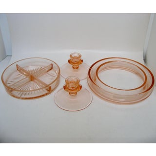Pink Depression Glass Collection, 4 Pieces Preview