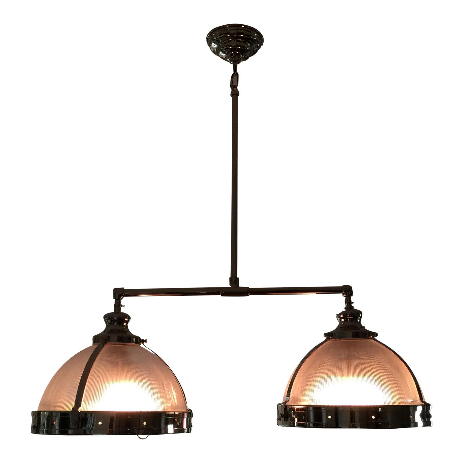 Restoration hardware double pendant light fixture chairish