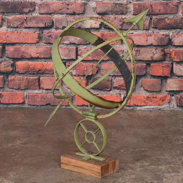 Early 21st Century Antique Style Danish Green Garden Sun Clock / Armillary For Sale In Denver - Image 6 of 6