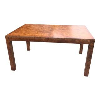 John Stuart Burled Elm Dining Table For Sale