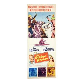 Vintage 1963 Original The Golden Arrow Movie Poster