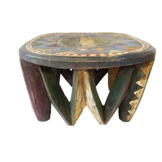 African Old Nupe Low Stool For Sale