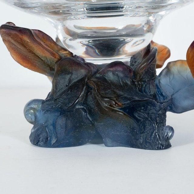 Art Deco Style Crystal and Pâte De Verre Papillon Coupe by Daum For Sale - Image 12 of 13