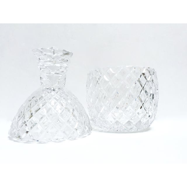 Vintage Large Clear Glass Pineapple With Lid - Image 4 of 9