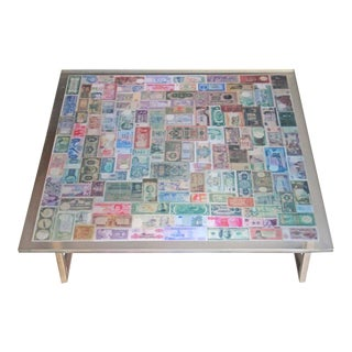 The Color of Money Resin Coffee Table