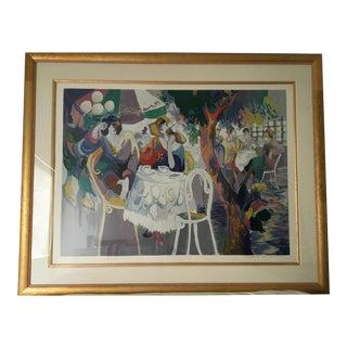 "Vintage Maimon ""West Bank Cafe"" Serigraph 36/275 For Sale"