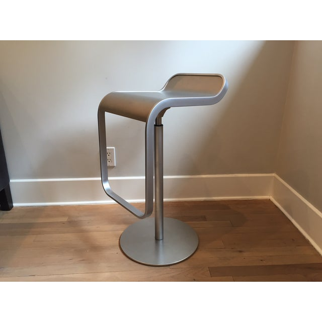 Contemporary LEM Piston Stainless Steel Bar Stools- Set of 3 For Sale - Image 3 of 6
