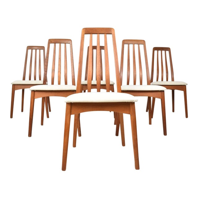 Benny Linden Teak Highback Dining Chairs - 6 - Image 1 of 11
