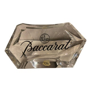 1950s Baccarat Crystal Store Display Sign Sculpture For Sale