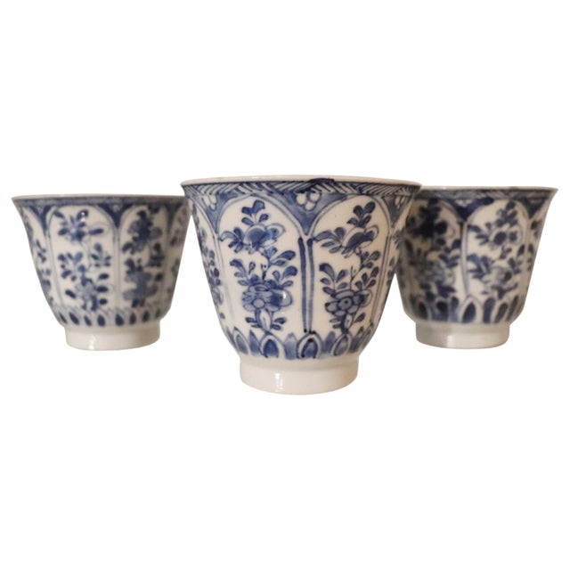 19th Century Set of Three China Ceramic Cups For Sale