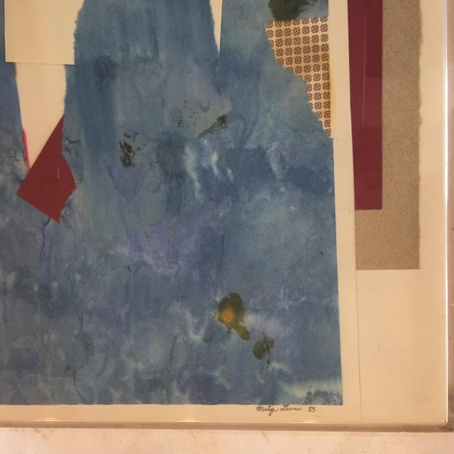 Mitzi Levin Abstract Collage, 1983 - Image 5 of 10