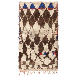 Vintage Moroccan Rug - 4′3″ × 7′ For Sale
