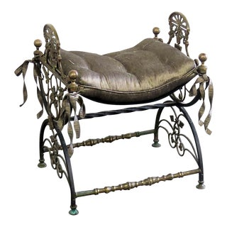 Antique Regency Style Iron Bench For Sale