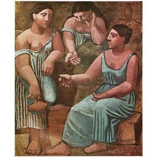 """Picasso 1971 """"Trois Femmes à La Fontaine"""" Parisian Period Photogravure For Sale"""