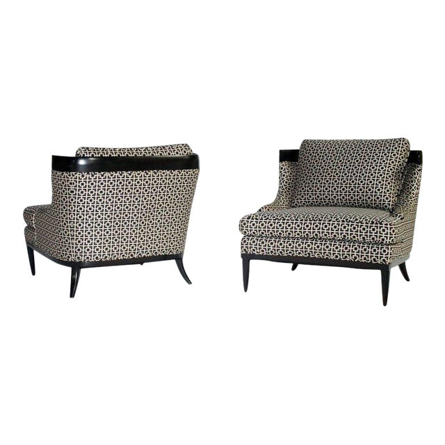 Pair of Slipper Chairs by Erwin Lambeth For Sale