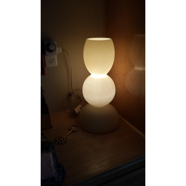 Italian Murano Glass Marino Due Table Lamp - Image 4 of 5
