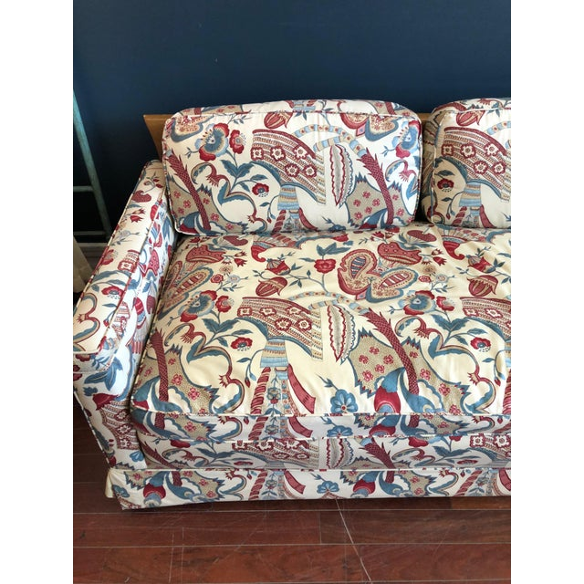Vintage 1970s Down Sofa in Fabulous Print Upholstery For Sale - Image 11 of 13